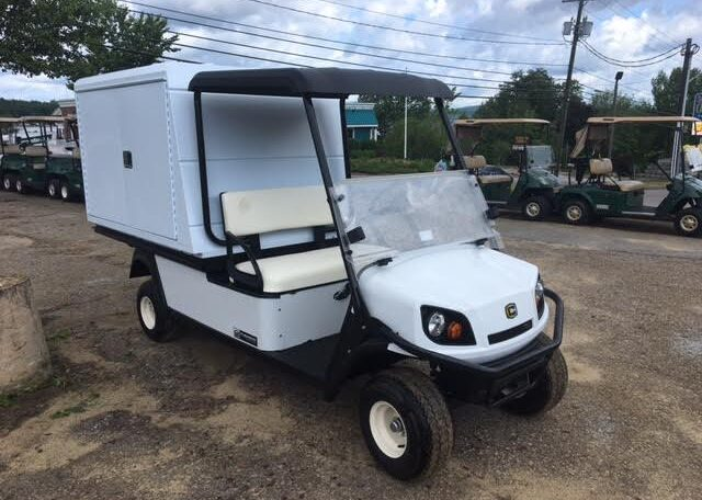 Cushman Shuttle 2 with aluminum van box.