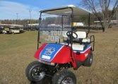 Custom Patriots Golf Cart