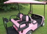Custom Pink Golf Cart