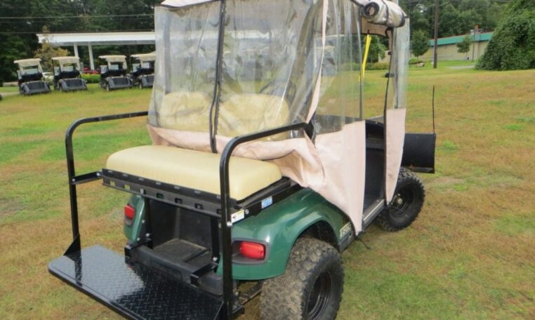 Golf Cart with Snow Plow
