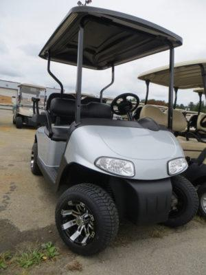 Grey EZGO Golf Cart with Custom Rims
