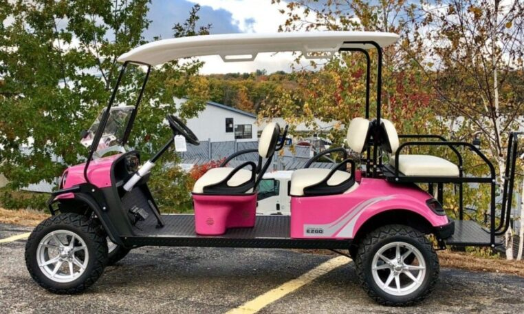 Pink Golf Cart For Sale