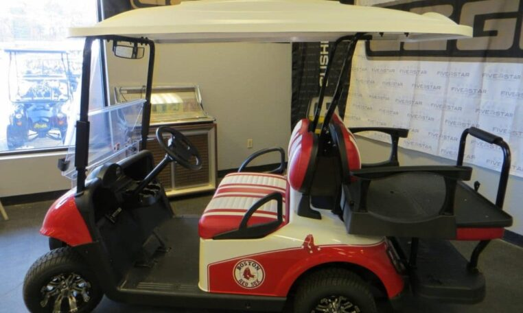 Boston Red Sox Golf Cart
