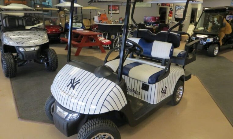 New York Yankees Golf Cart