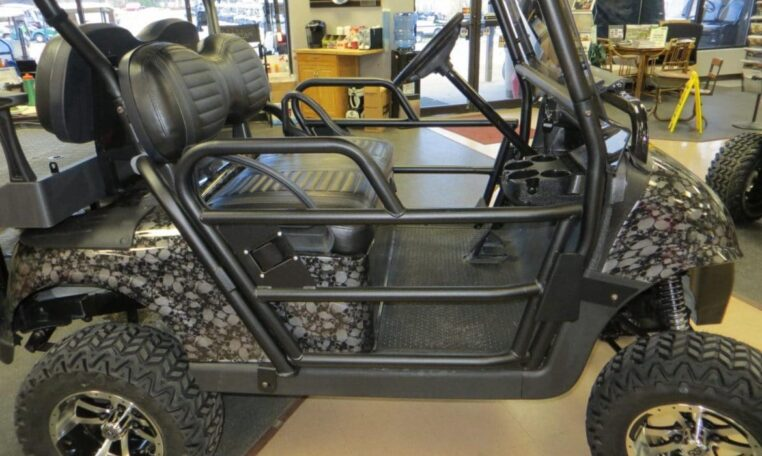 Custom Golf Cart Skulls Design