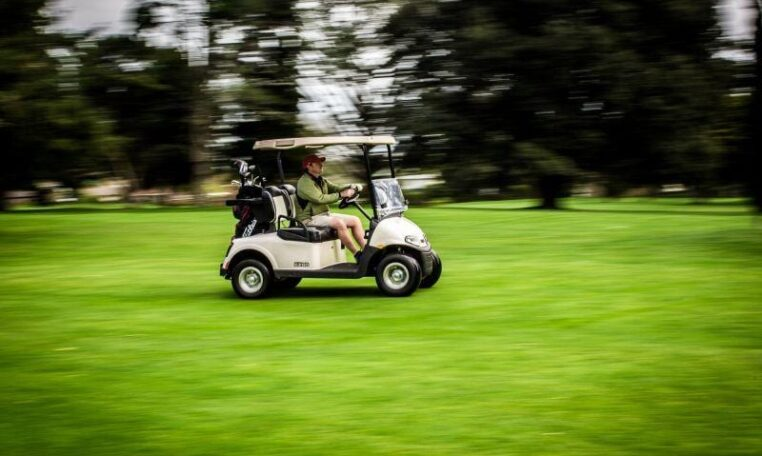 Golf Cart on the Golf Course