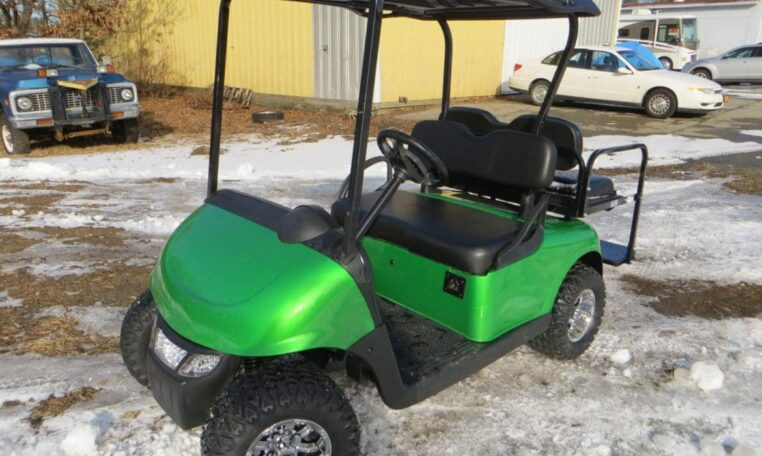 Bright Green Customized E-z-go Rxv-electric