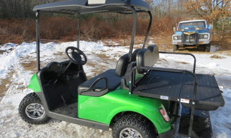 Green Custom E-Z-GO RXV-Electric Golf Cart