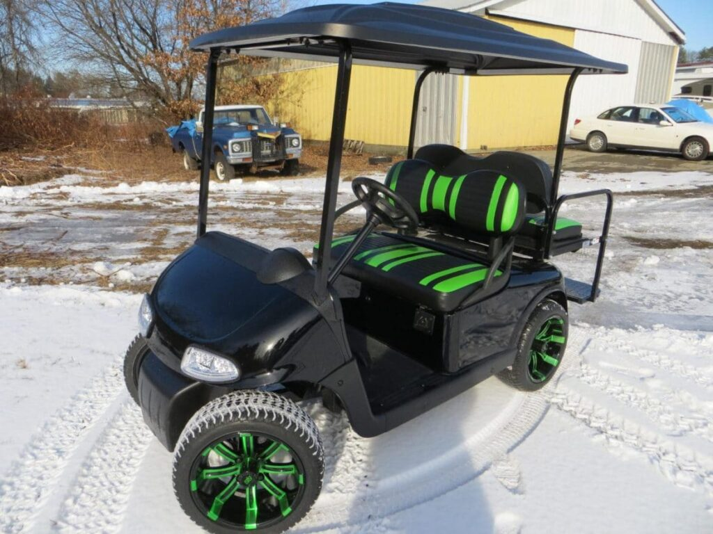 Green on Black Custom E-Z-GO RXV-Electric Golf Cart